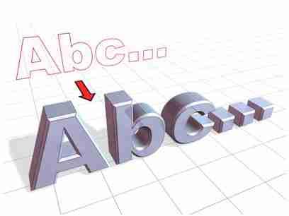 Как сделать буквы в 3д макс