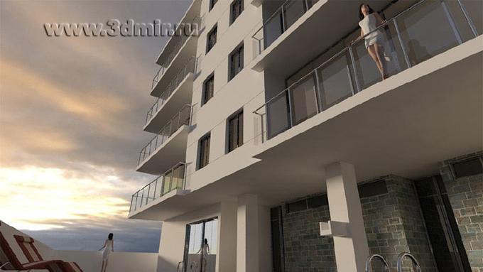 Архитектурная визуализация с HDRI Skies и Vray. (Paco Morales)