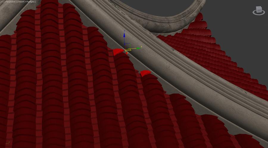 Моделирование черепичной крыши в 3ds max