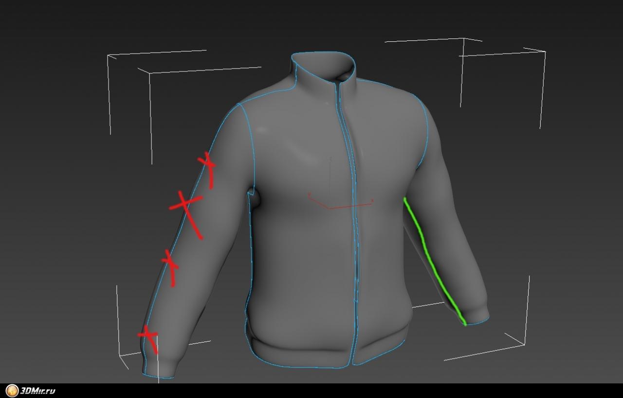 Для детализации одежды робота использовались такие кисти zbrush как standard, move, smooth и claybuildup
