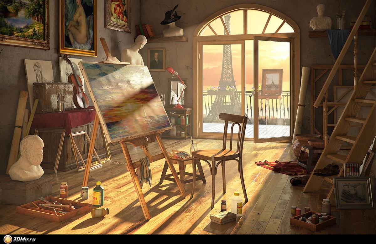 Художники рисовавшие комнаты