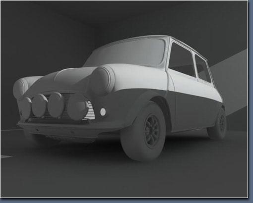 Mini-Cooper: Полигональная модель.