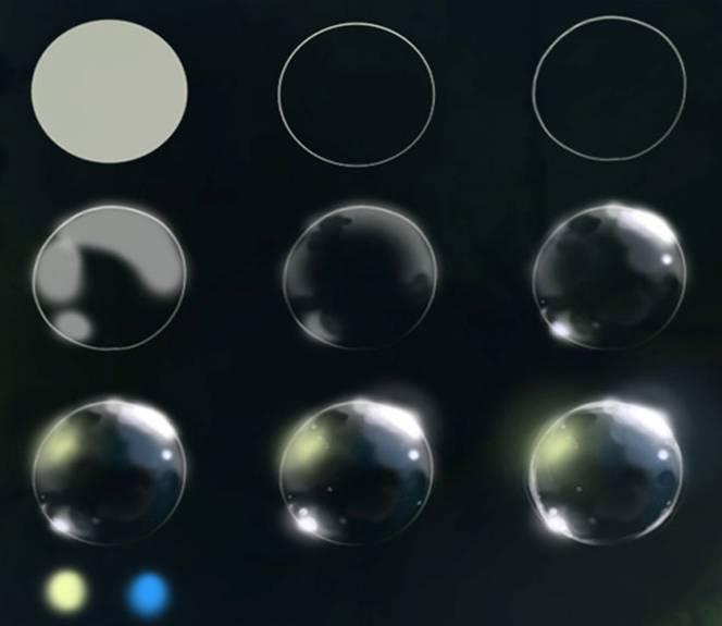 кисти для фотошопа блики света: